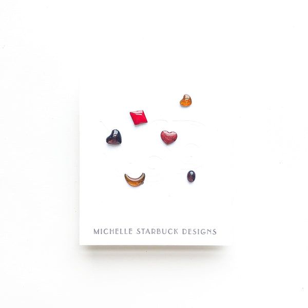 Vintage Enamel Studs Mix and Match Mystery Set - Michelle Starbuck Designs