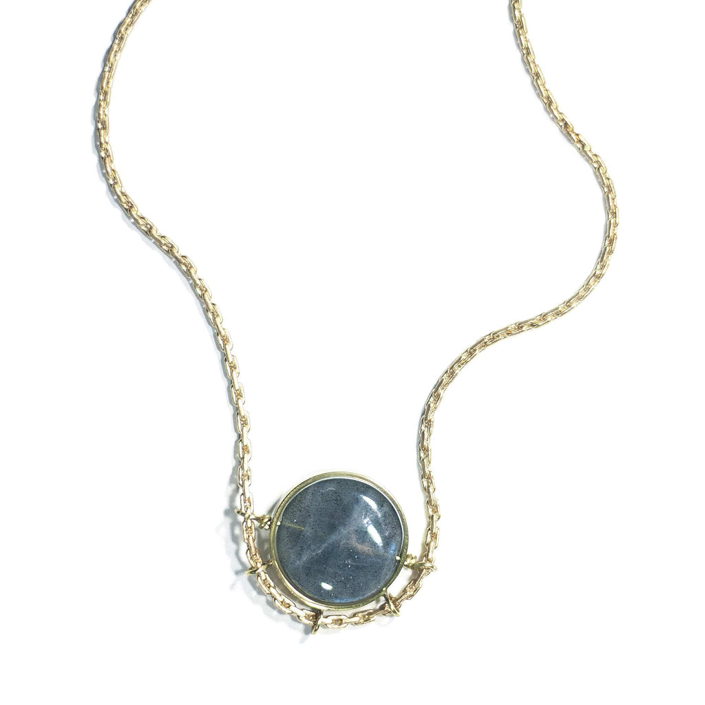 Geodesic Necklace / Labradorite