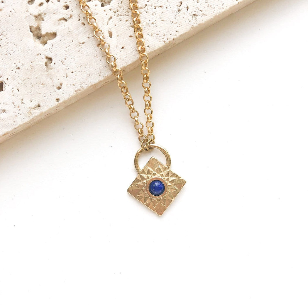 Luminary Necklace / Lapis - Michelle Starbuck Designs