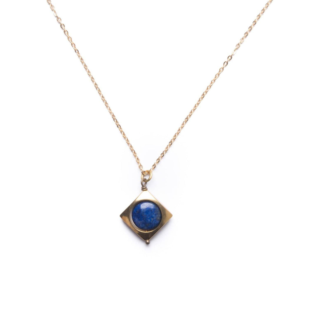 Mini Vega Necklace / Lapis - Michelle Starbuck Designs