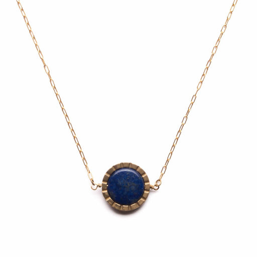 Notch Spinner Necklace / Lapis - Michelle Starbuck Designs