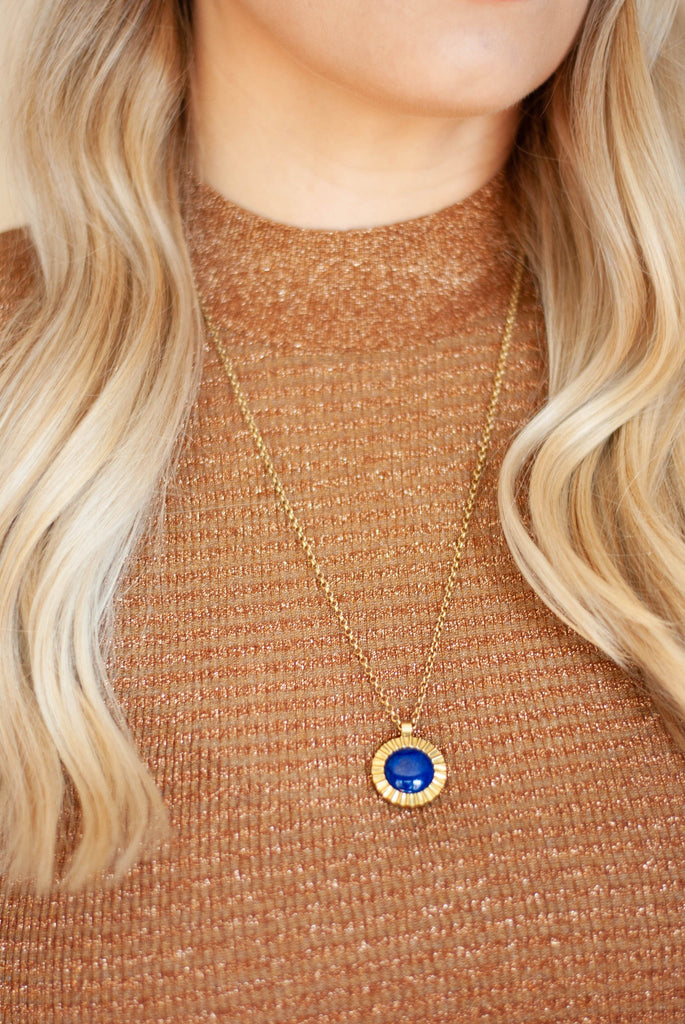 Starburst Pendant Necklace / Lapis - Michelle Starbuck Designs