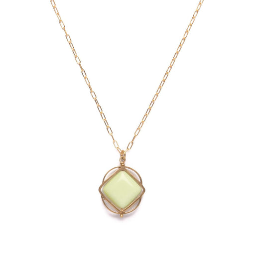 Vertex Necklace / Lemon Chrysoprase