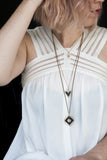 Helene Necklace / Black Jasper