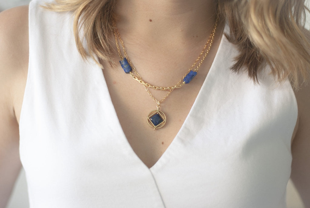 Mini Theorem Necklace / Lapis - Michelle Starbuck Designs
