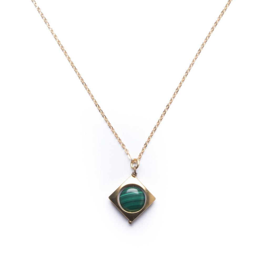 Mini Vega Necklace / Malachite - Michelle Starbuck Designs