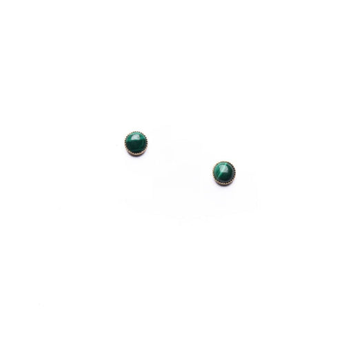 Malachite Studs - Michelle Starbuck Designs