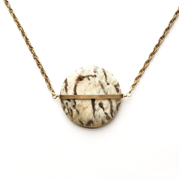 Limited Edition Graphic Feldspar Mega Primer Necklace