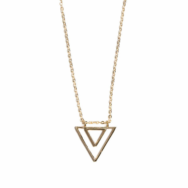 Concentric Triangle Necklace