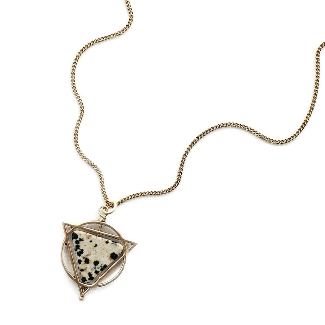 Elder Necklace / Dalmatian Jasper - Michelle Starbuck Designs