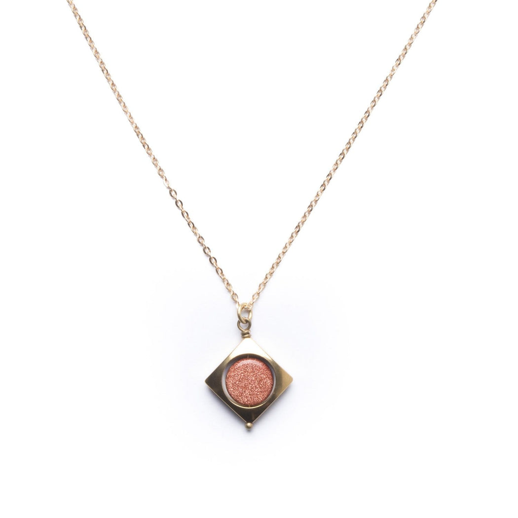Mini Vega Necklace / Goldstone - Michelle Starbuck Designs