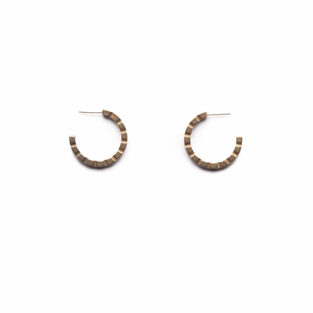 Notch Hoops - Michelle Starbuck Designs