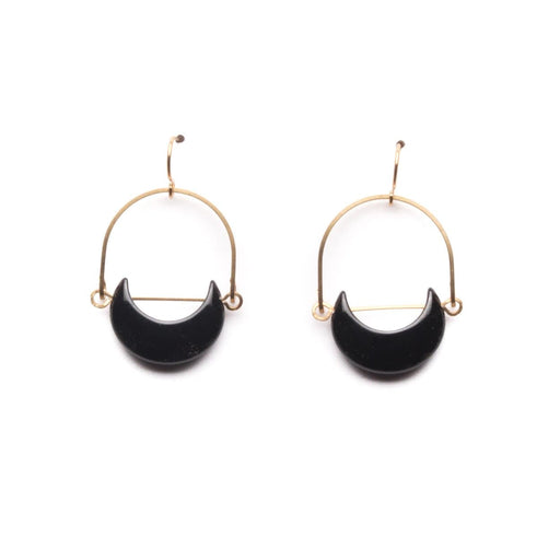 Eclipse Earrings / Onyx - Michelle Starbuck Designs