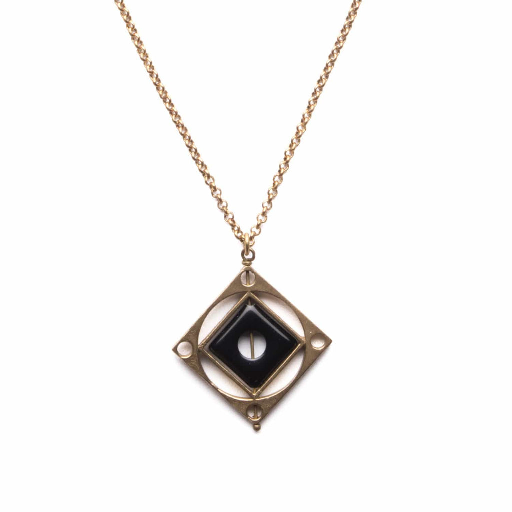 Optical Necklace / Black Agate - Michelle Starbuck Designs