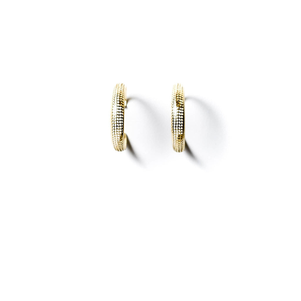 Perforated Hoop Earrings - Michelle Starbuck Designs
