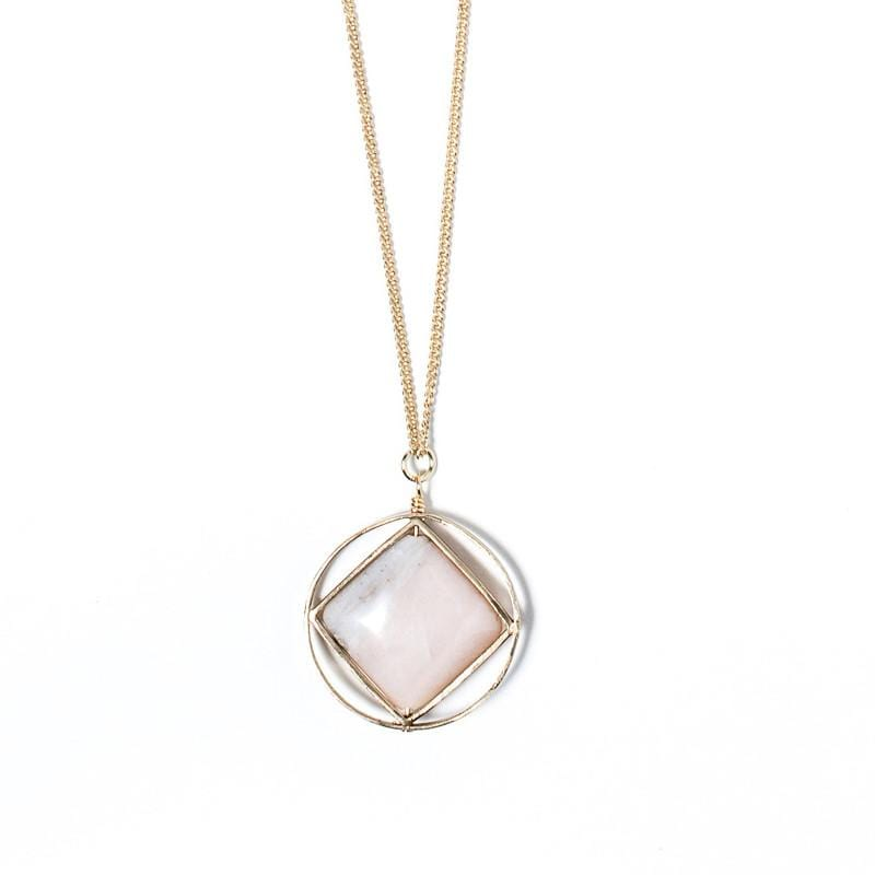 Theorem Necklace / Pink Opal
