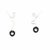 Loop Threader Earrings/ Black Agate and Silver - Michelle Starbuck Designs