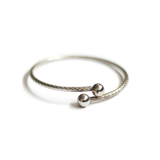 Vintage Silver Textured Bangle
