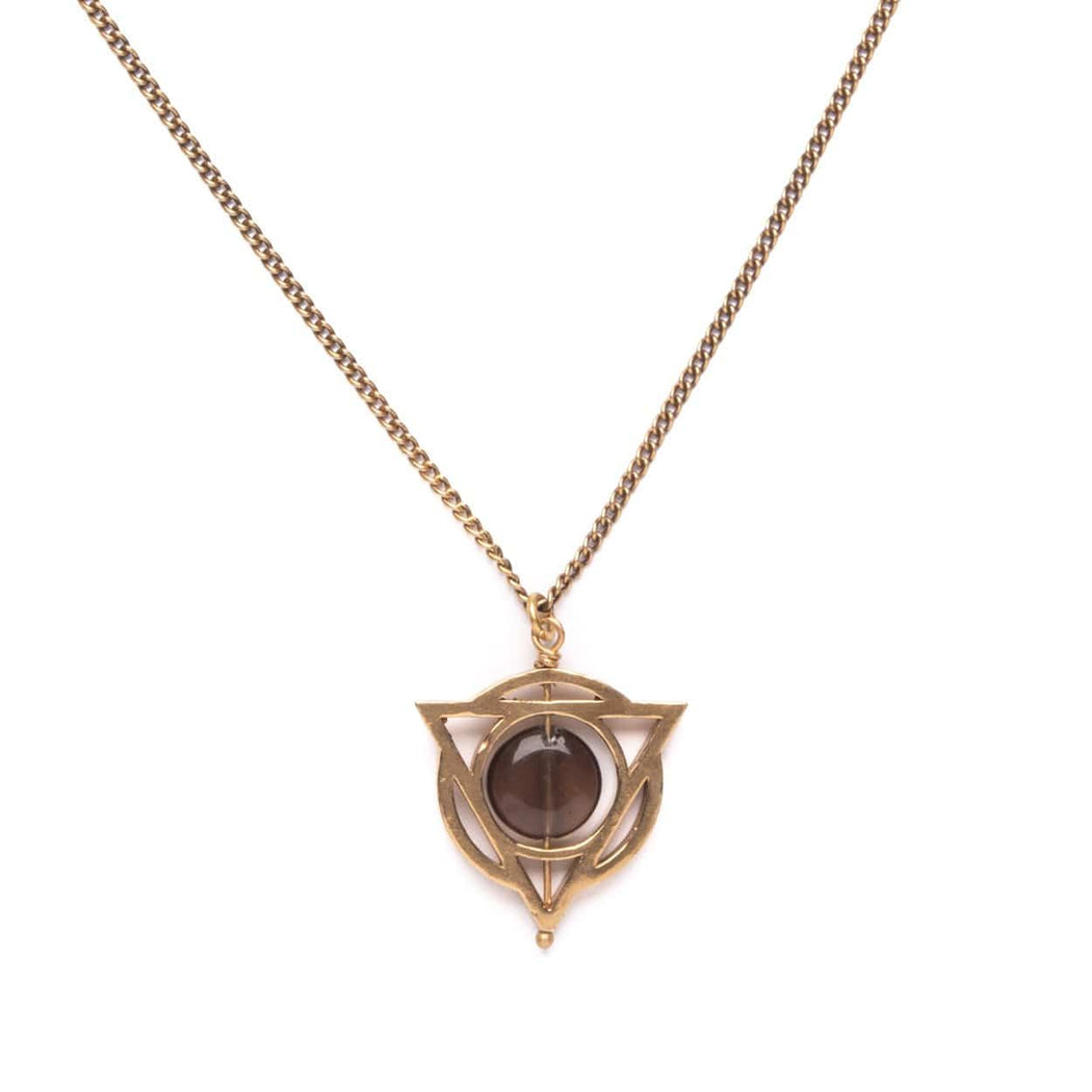 Glyph Necklace / Smoky Quartz - Michelle Starbuck Designs