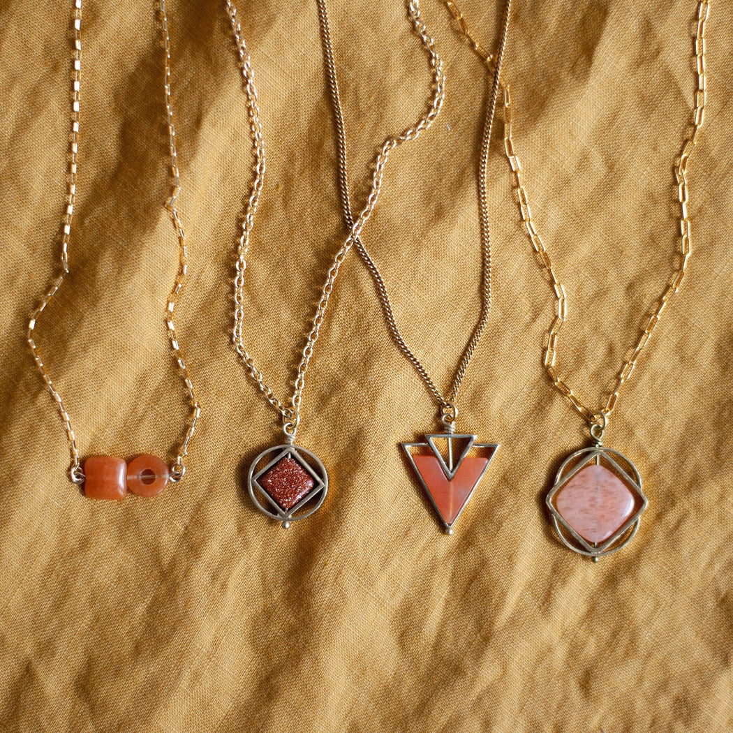 Element Necklace / Red Aventurine - Michelle Starbuck Designs