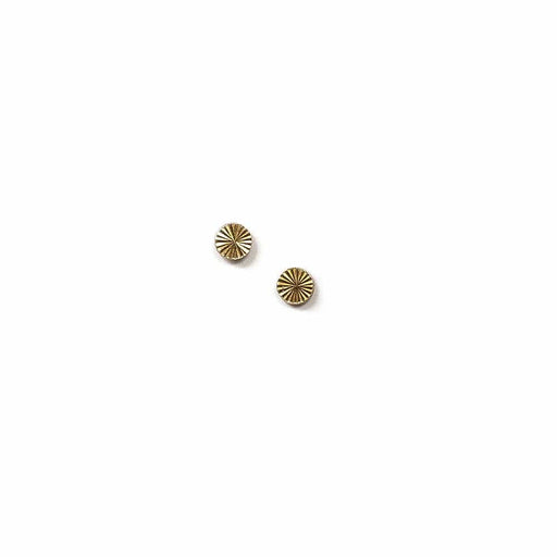Tiny Circle Starburst Studs - Michelle Starbuck Designs