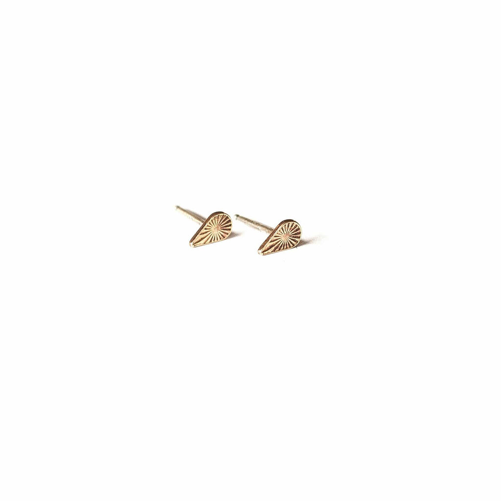Tiny Starburst Teardrop Studs - Michelle Starbuck Designs