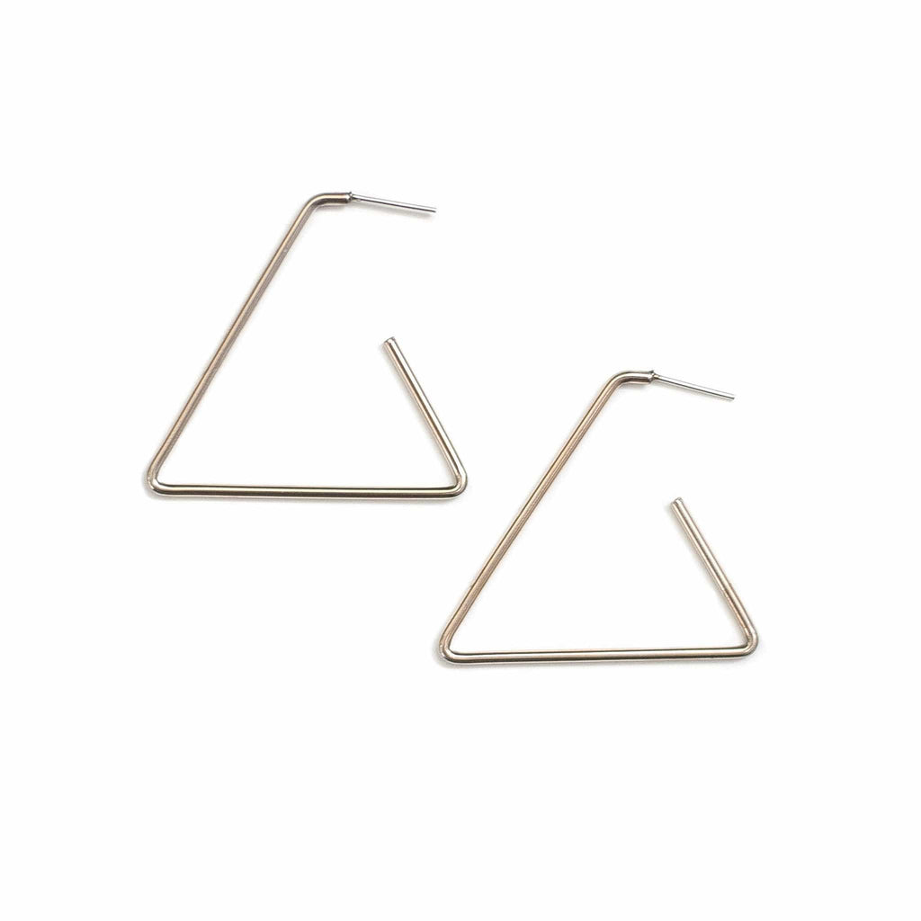 Vintage Triangle Hoops