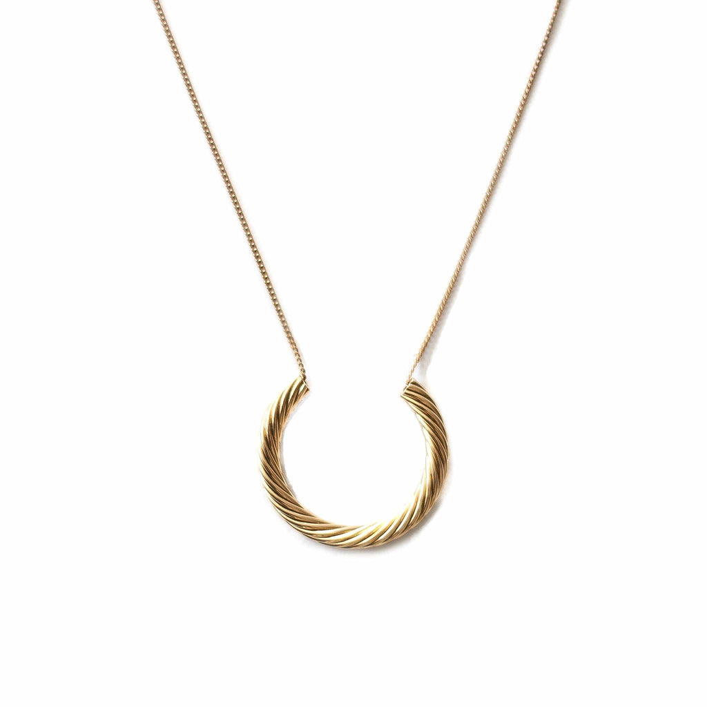 Twisted Crescent Necklace