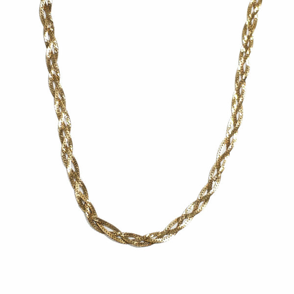 Vintage Braided Chain Necklace - Michelle Starbuck Designs