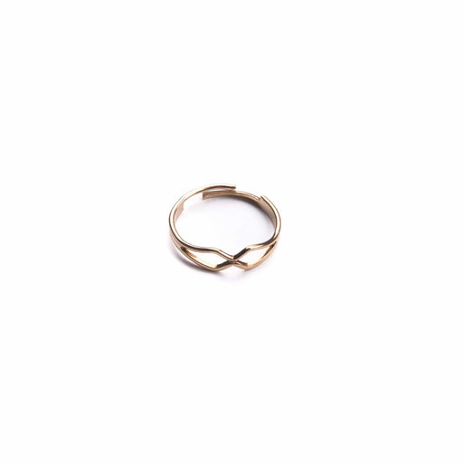 Vintage Brass Criss Cross Ring - Michelle Starbuck Designs