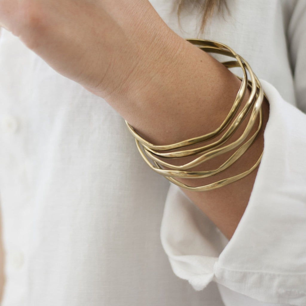 Vintage Wave Bangle - Michelle Starbuck Designs