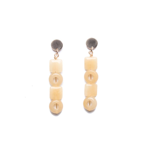 Element Earrings / Yellow Quartz - Michelle Starbuck Designs