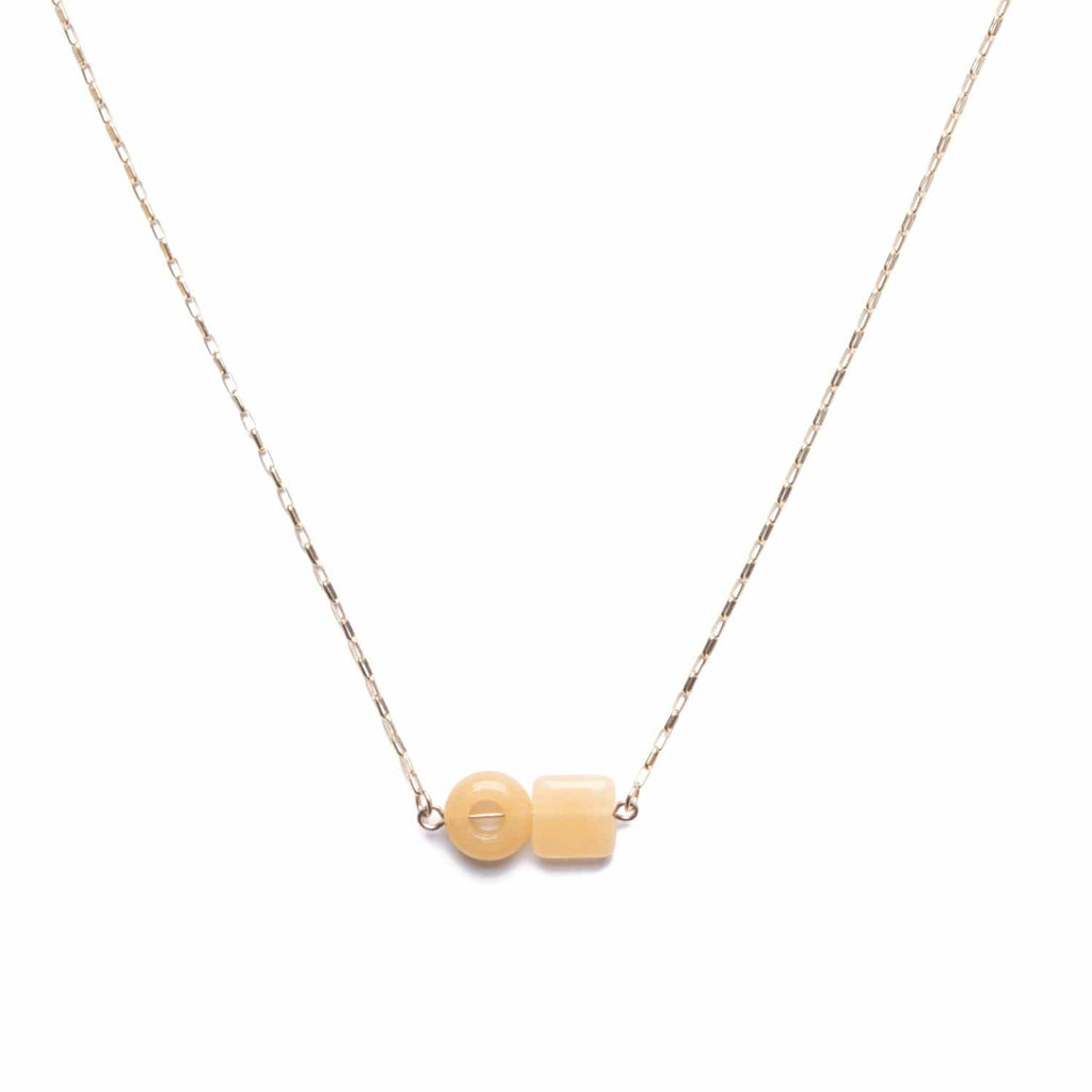 Element Necklace / Yellow Quartz - Michelle Starbuck Designs