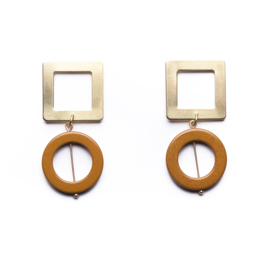 Contour Earrings / Yellow Jasper - Michelle Starbuck Designs