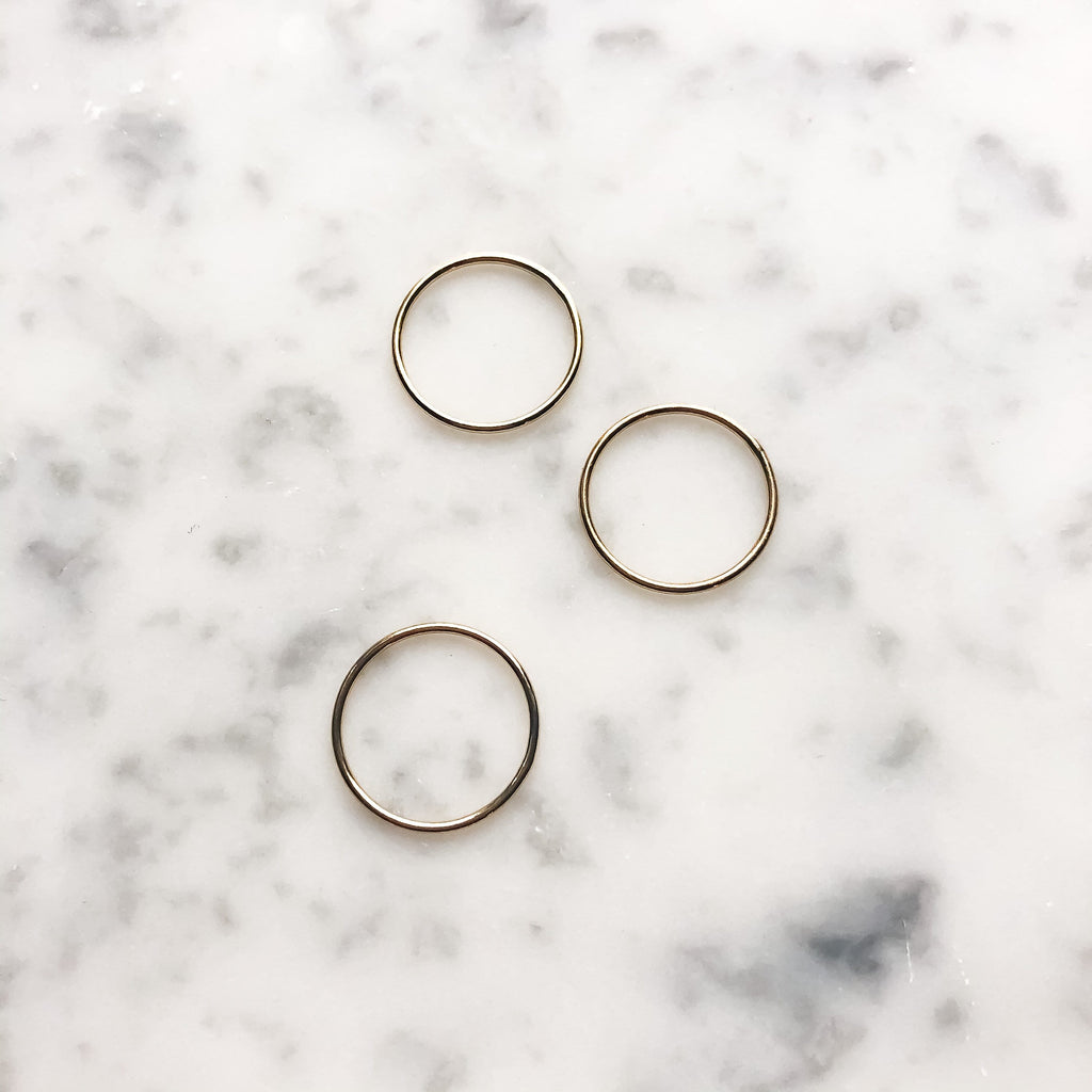 14kt Gold Filled Stacking Rings - Michelle Starbuck Designs