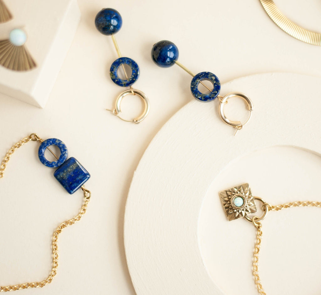 Element Necklace / Lapis - Michelle Starbuck Designs