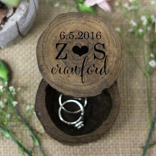 The Perfect Proposal, Personalized Wooden Ring Box