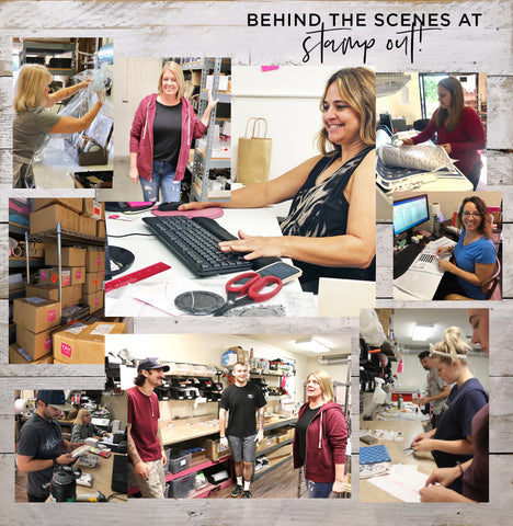 Behind the Scenes at Stamp Out