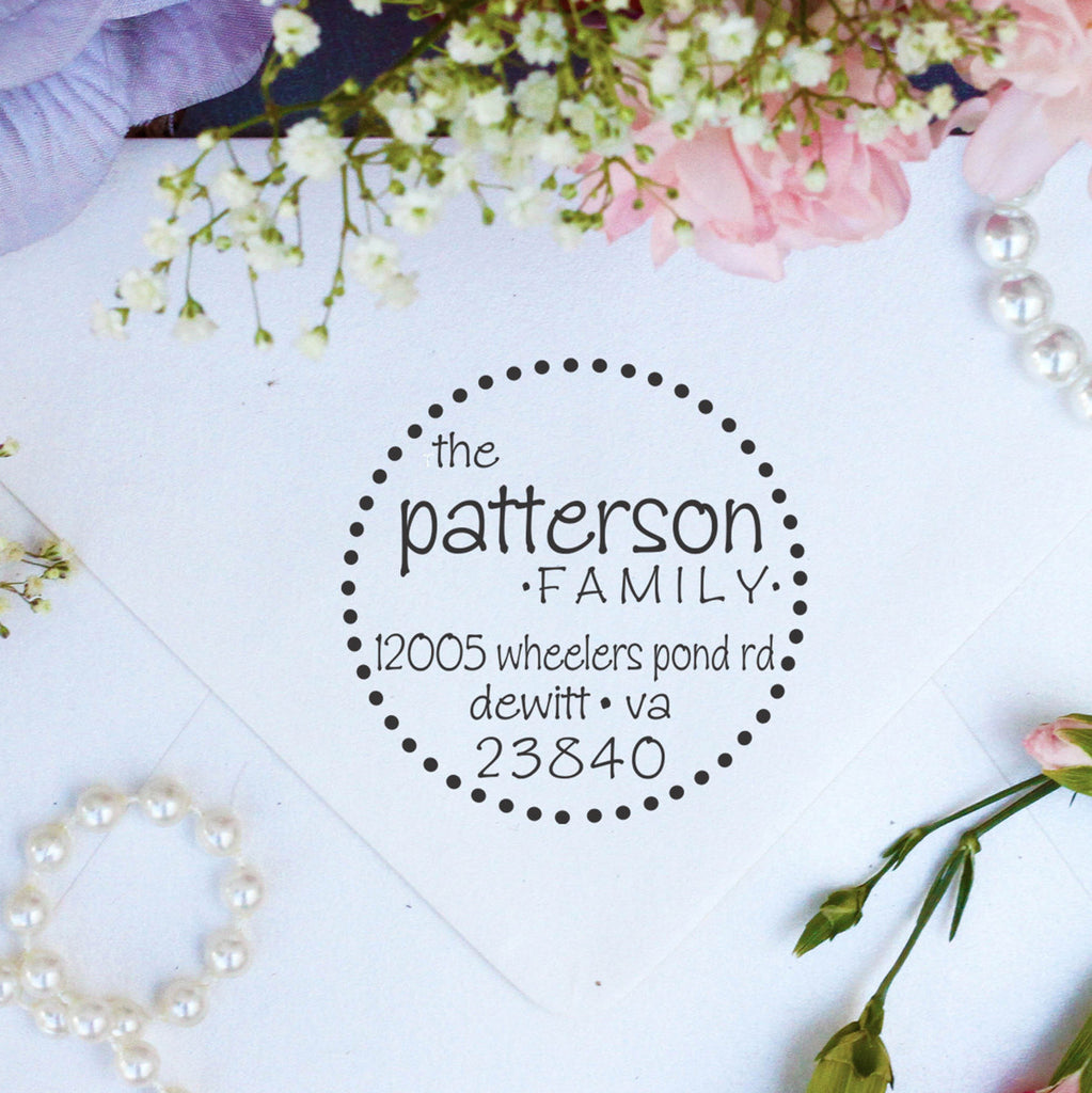 "Return Address Stamp ""Patterson"""