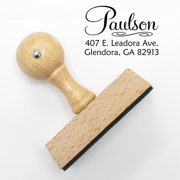 "Return Address Stamp- ""Paulson"""