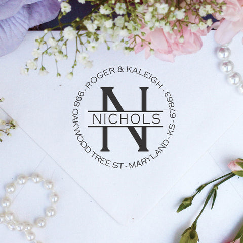 "Return Address Stamp ""Nichols"""