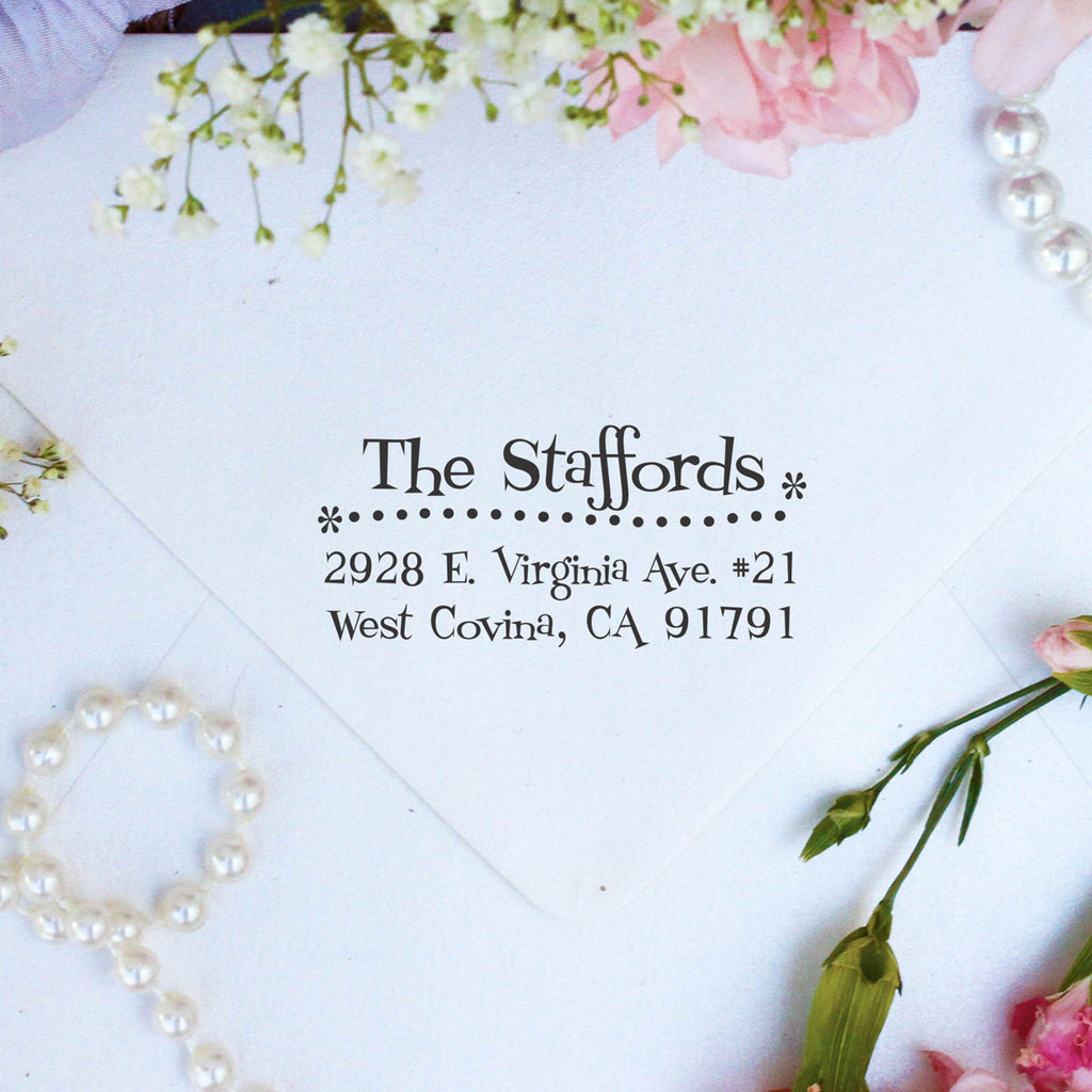 "Return Address Stamp ""Stafford"""