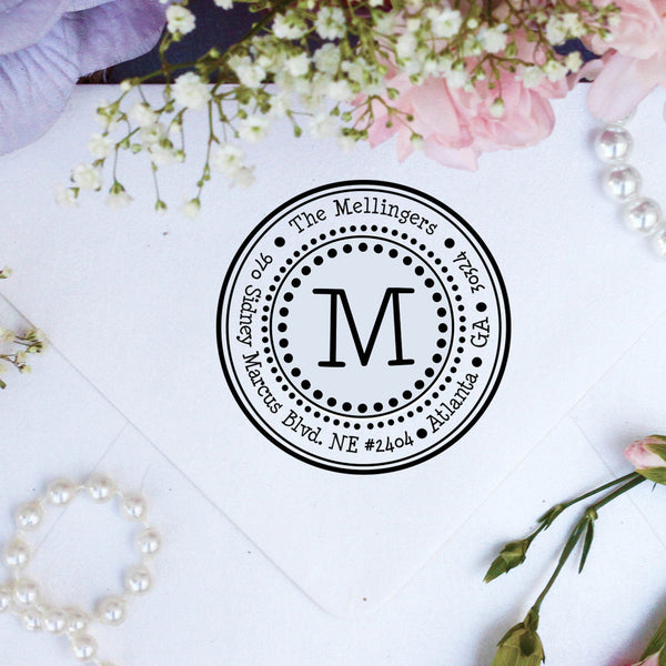 "Return Address Stamp, Personalized Stamp, Custom Stamp ""Mellingers"""