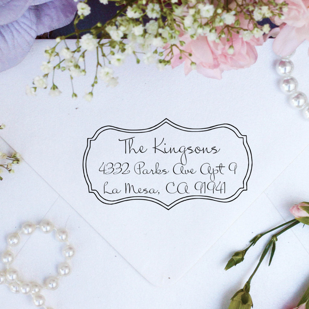 "Return Address Stamp ""Kingson"""