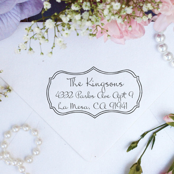 "Return Address Stamp, Custom Stamp, Personalized Address Stamp ""Kingson"""