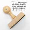 "Return Address Stamp, Personalized Stamp, Custom Stamp ""Whiting"""