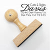 "Return Address Stamp- ""Davis"""