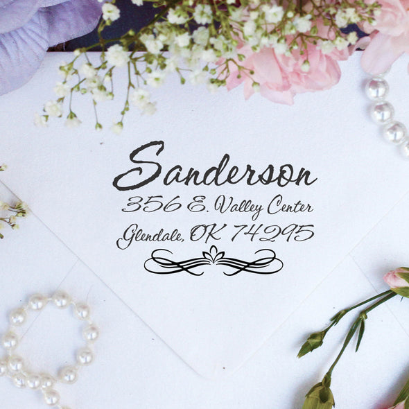 "Return Address Stamp ""Sanderson"""