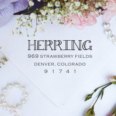 "Return Address Stamp- ""Herring"""
