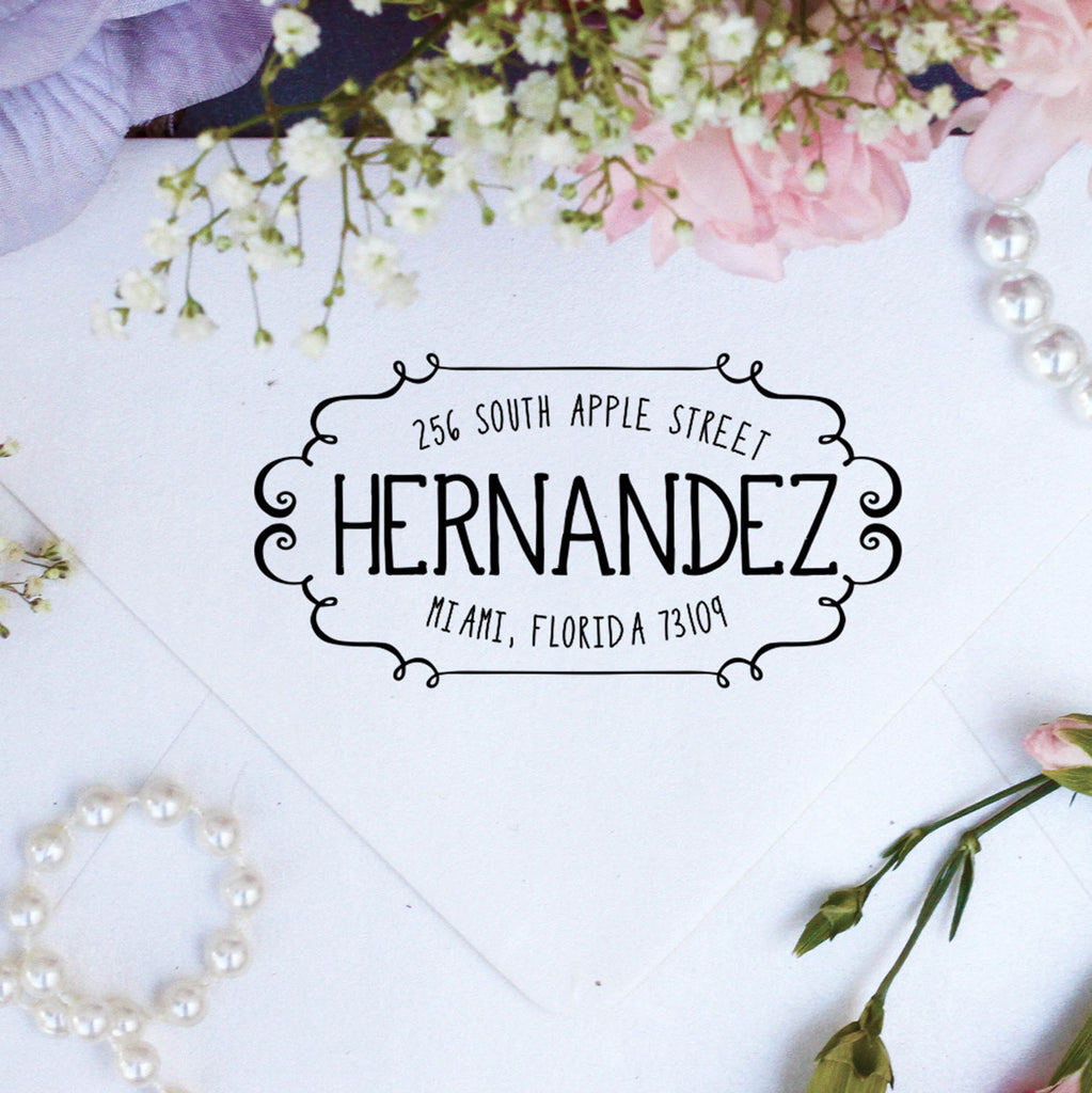 "Return Address Stamp ""Hernandez"""